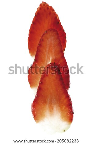 Strawberry slices, close-up - stock photo