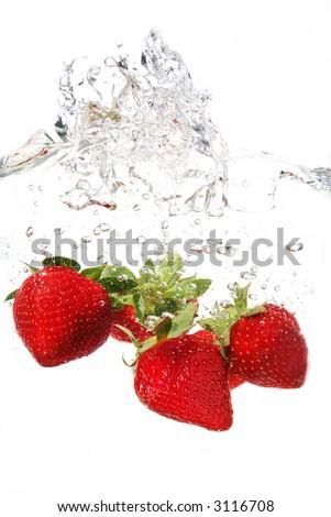 Strawberry Splash - stock photo
