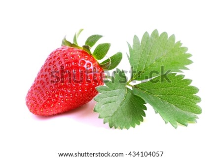 Strawberry. Strawberry on white background. Strawberry, strawberry, strawberry, strawberry, Fresh strawberry and leaf. Strawberries. Red strawberries, strawberries with leaves isolated on white.  - stock photo