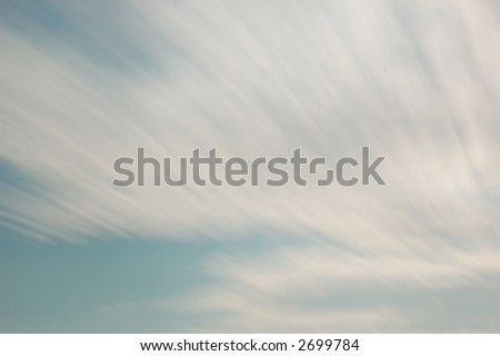 Streaky clouds - stock photo