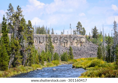 Stream at Yellowstone National Park - stock photo