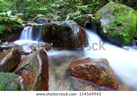 Stream flow - stock photo