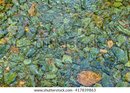 Stream flowing over stones in a creek in Shenandoah Valley in Virginia - stock photo