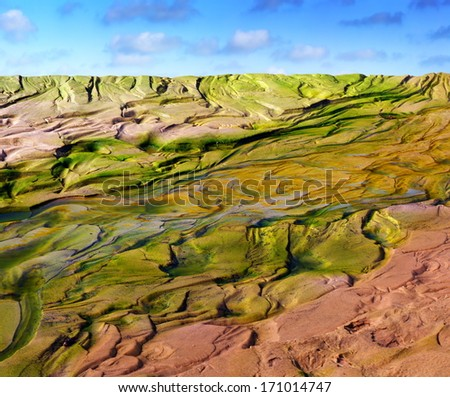 stream in desert - stock photo