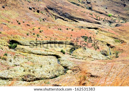 Stream - Landscape in the Cederberg, South Africa.  - stock photo