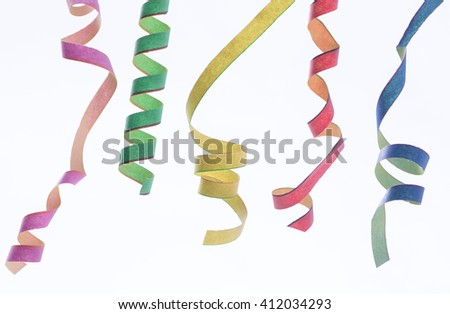 Streamers and confetti background - stock photo