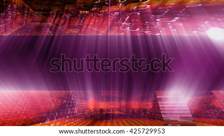 Streaming digital data abstraction 10879 from a series of futuristic tech imagery. - stock photo