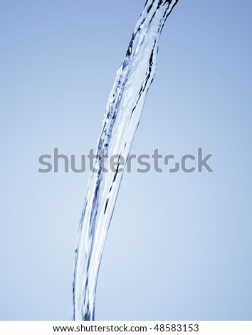 Streaming water - stock photo