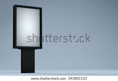Street advertising billboard - stock photo