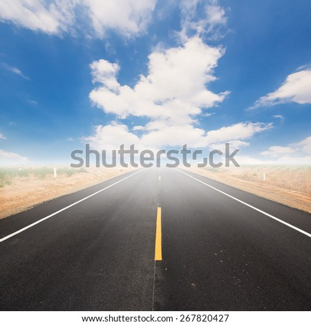 street and the sky blue - stock photo