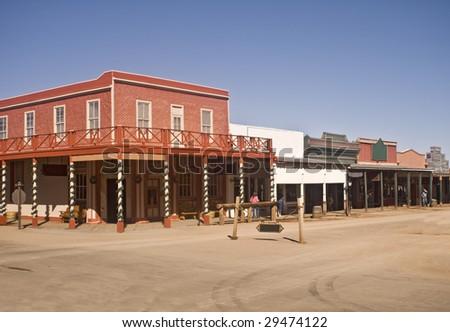 Street at Tombstone, Arizona - stock photo