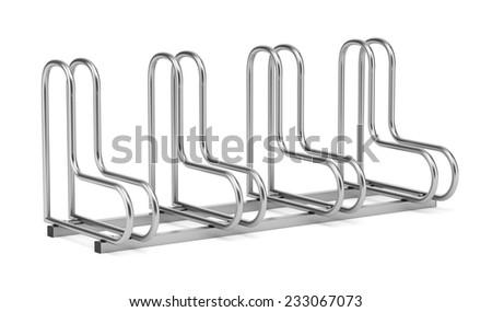 street bicycle rack isolated on white background  - stock photo