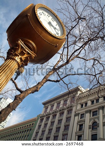 Street Clock (San Francisco) - stock photo