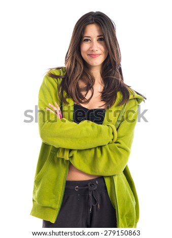 Street dance woman - stock photo
