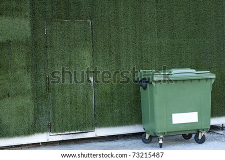 street green garbage can - stock photo