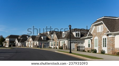 Street in Cary - stock photo