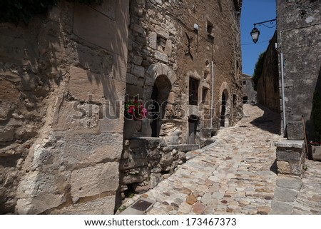 street in Lacoste village - stock photo