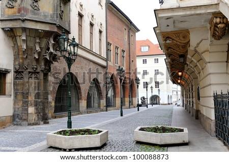 Street in old town. Czech Republic, Prague - stock photo
