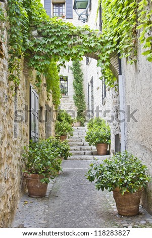 Street in Provence - stock photo