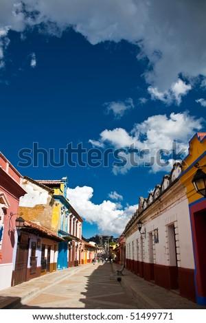 Street in San Cristobal De Las Casas, Chiapas, Mexico - stock photo