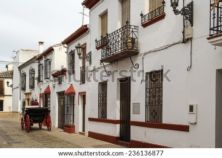 street in the old town of Ronda, Spain - stock photo
