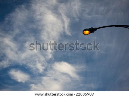 street lamp against sky - stock photo