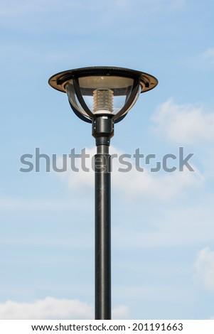 Street lamp garden light for decorate vertical - stock photo