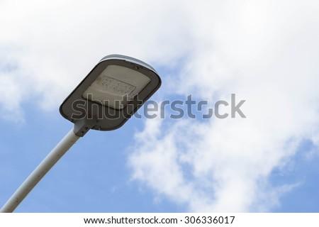 Street light blue sky background - stock photo
