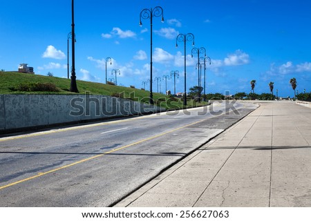 street lights on a sunny day - stock photo