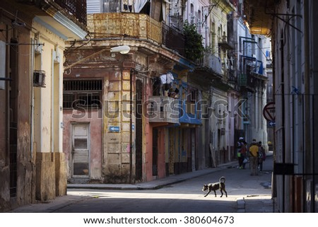 Street of Havana, Cuba - stock photo