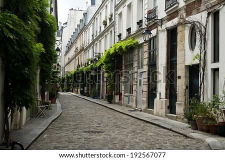 street of Paris  - stock photo