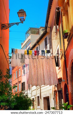 Street of Rome - stock photo