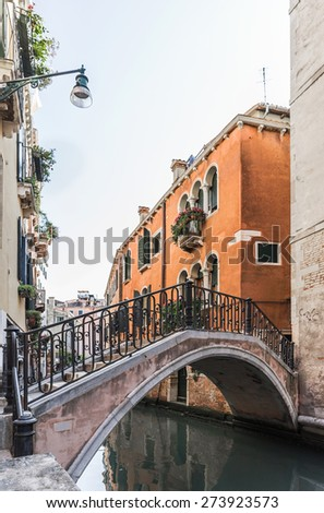 Street of Venice, waiting for tourists, Italy - stock photo