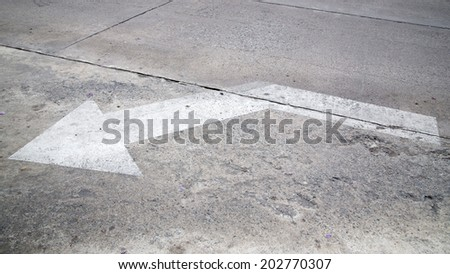 Street, road, arrow direction. - stock photo