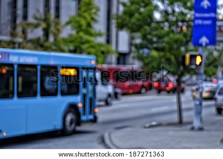 Street scene, Fifth Avenue Abstract, Pittsburgh, Pennsylvania, USA - stock photo