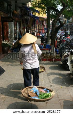 Street seller - stock photo