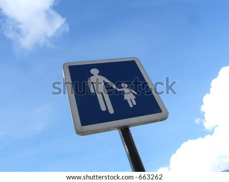 Street sign against the sky - stock photo