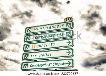 Street sign in Paris. - stock photo