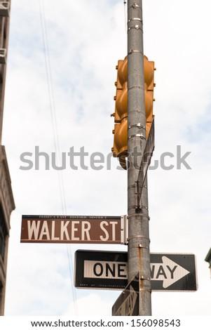 Street signs of SOHO, New York City - stock photo
