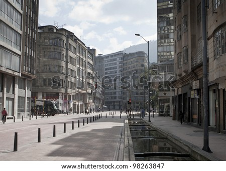 Street view in Bogota, Colombia - stock photo
