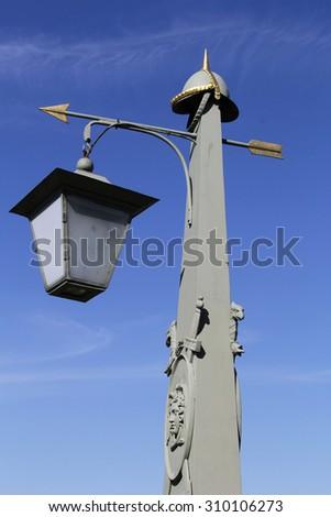 Streetlight against the sky - stock photo