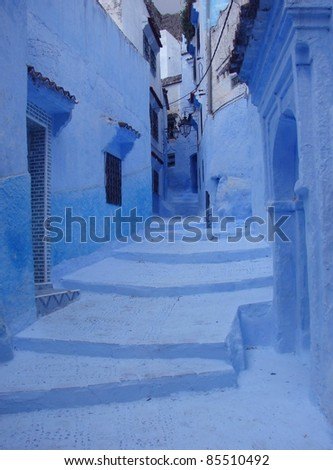 Streets of Morocco - stock photo
