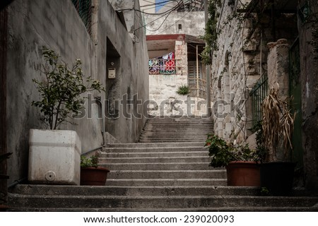 Streets of  old Nazareth  - stock photo