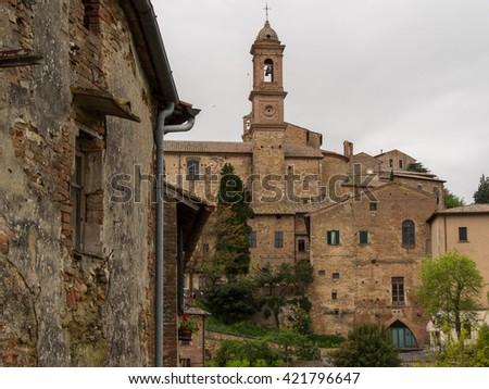 Streets of the old Italian city - stock photo