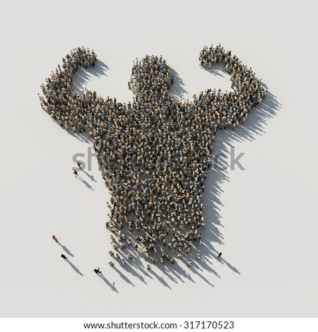 strength in unity - stock photo