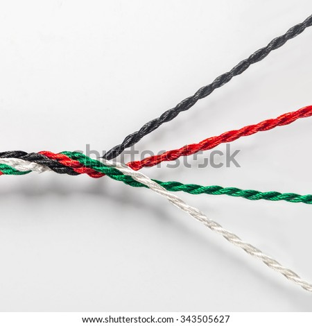 Strength in unity - an idea. UAE national day conceptual background. - stock photo