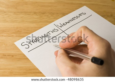 Strengths And Weaknesses - stock photo
