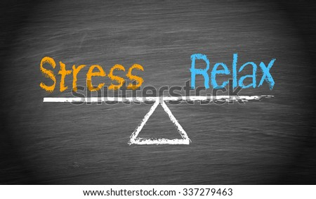 Stress and Relax - Balance Concept - stock photo