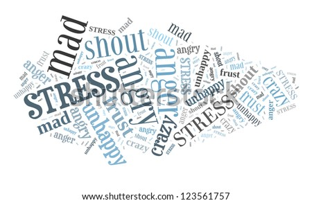 Stress in word collage - stock photo