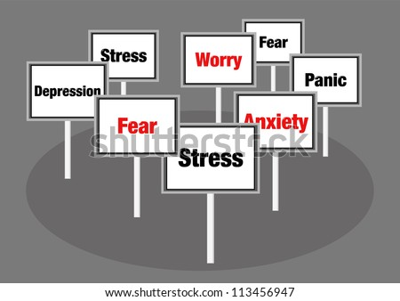 Stress signs - stock photo